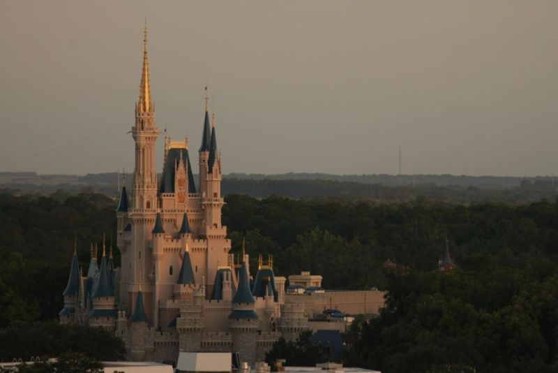 Sunrise Cinderella Castle - Wordless wednesday