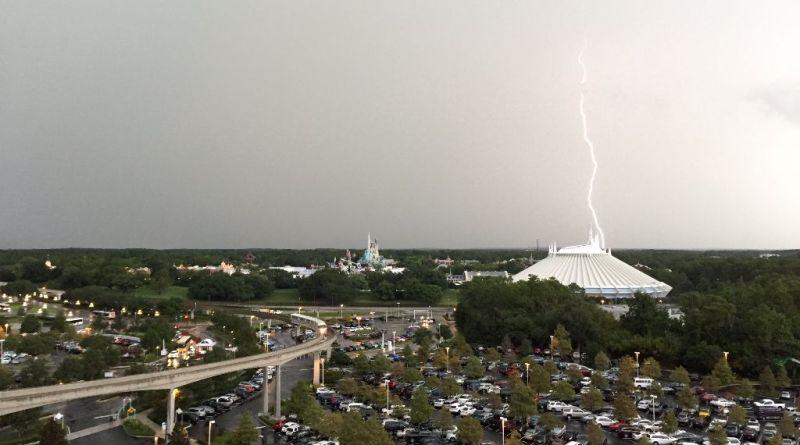 July 3 Lightning storm Magic Kingdom