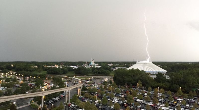 July 3 Lightning storm Magic Kingdom