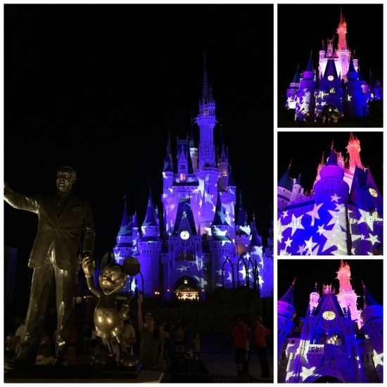 July 3 Lightning storm Magic Kingdom - Brent H Collage