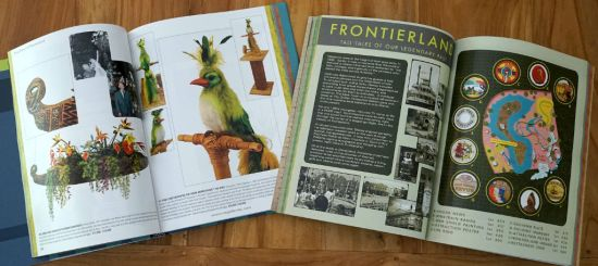 Hardcover (left) or softcover (right): the content is the same with pictures and texts that are a sort of time travel through Disney theme parks history.