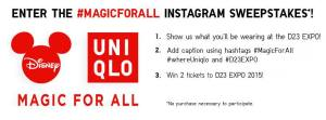 uniqlo d23 instagram contest