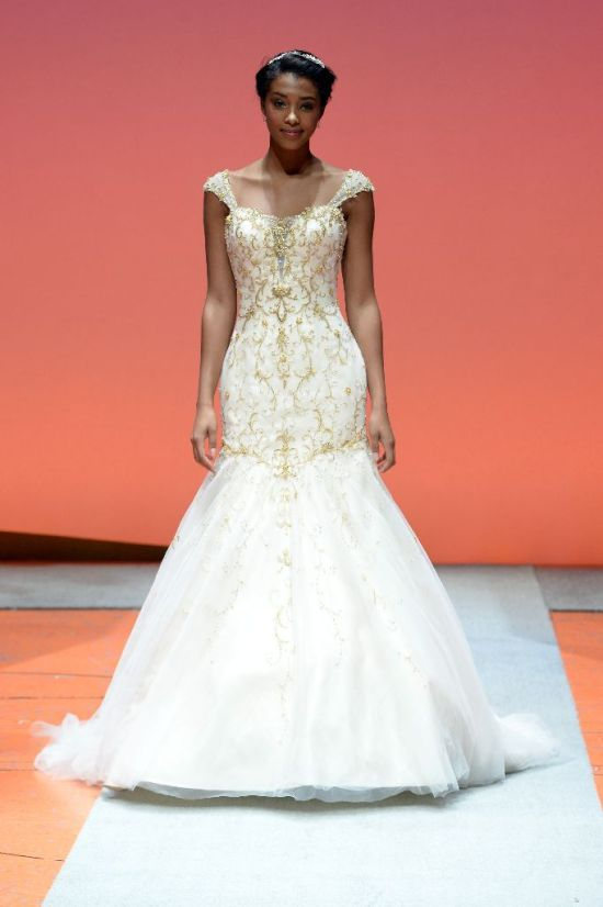 2016 Alfred Angelo Disney Fairy Tale Weddings Bridal Collection Fashion Show Debut Tiana