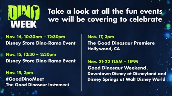 Dino Week event schedule