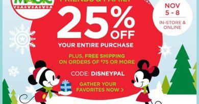 disney store friends & family sale 11-15