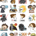 Star Wars Force Awakens Stickers Facebook