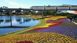 Flower Garden Monorail - Wordless Wednesday