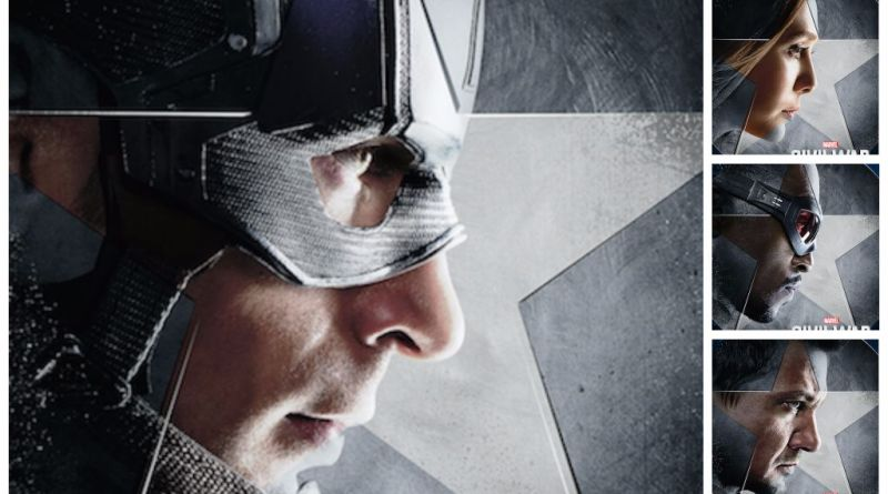 Team Cap - Captain America Civil War collage
