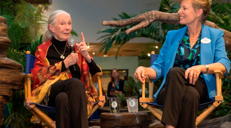 Dr. Jane Goodall and Dr. Beth Stevens at Disney's Animal Kingdom