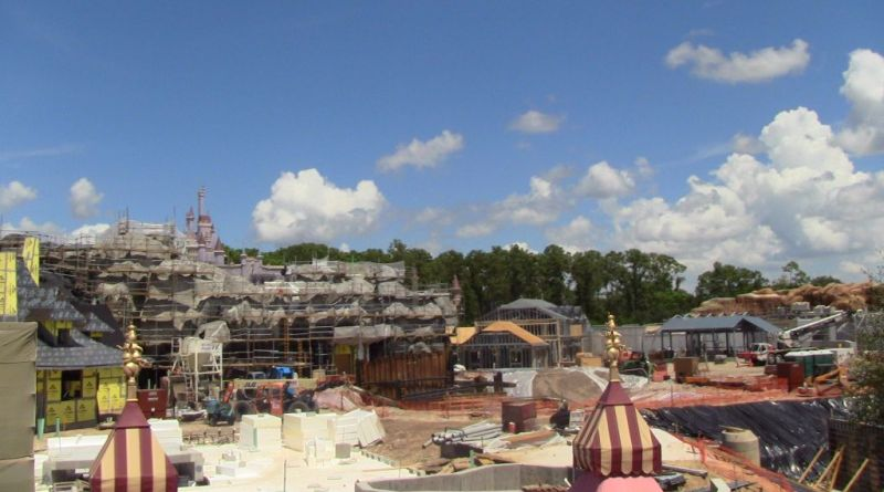 construction of new fantasyland september 2011
