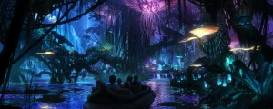 Concept art by Disney for the Na'vi River boat ride.