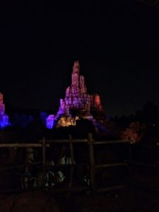 Big Thunder Mountain Railroad at Night - Wordless Wednesday