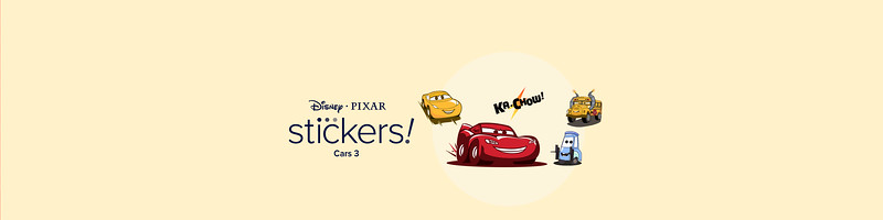 Pixar Stickers - Cars 3