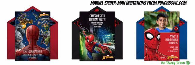 Marvel SpiderMan Punchbowl Invitations