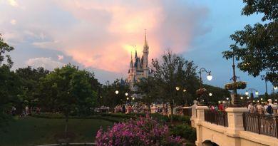 Sunset over Cinderella Castle - Wordless Wednesday