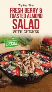 Fresh Berry & Almond Chicken Salad Habit Burger Grill