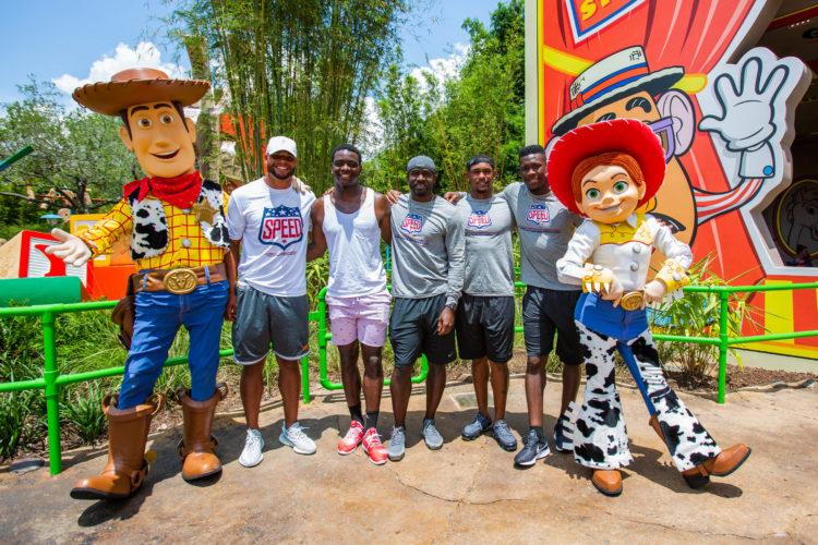 Dallas Cowboys QB Dak Prescott and Teammates Visit Toy Story Land Before Training Camp