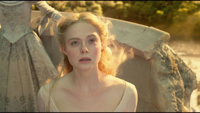 Elle Fanning is Aurora in Disney's MALEFICENT: MISTRESS OF EVIL.