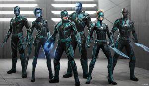 Captain Marvel Kree character designs Ian Joyner