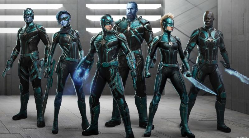 Captain Marvel Kree character designs Ian Joyner