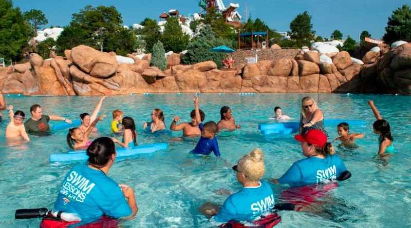 ''World's Largest Swimming Lesson'' at Disney's Blizzard Beach