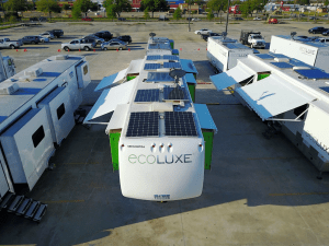 Solar powered trailers on the set of The Call of the Wild