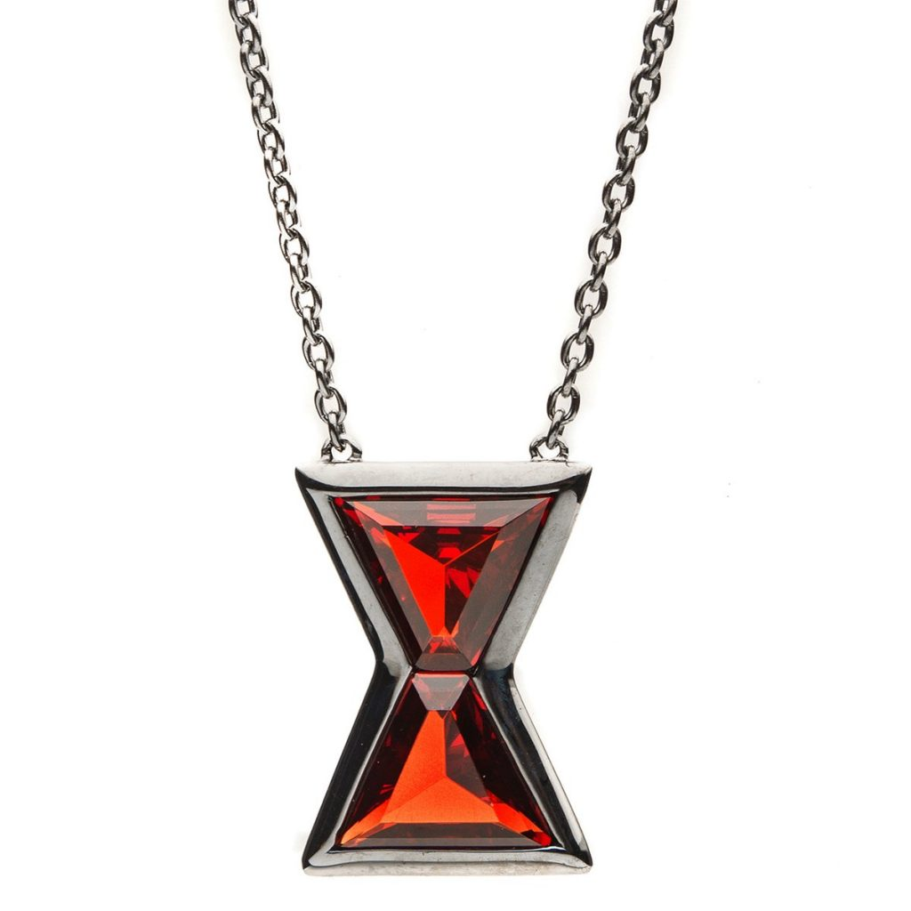 marvelxrocklove black widow hourglass necklace