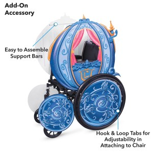Cinderella's Coach Wheelchair Cover Set by Disguise