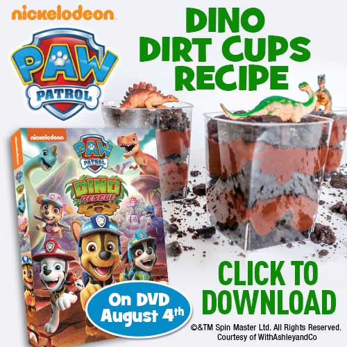 Make Your Own Delicious Paw Patrol Dino Dirt Cups The Disney