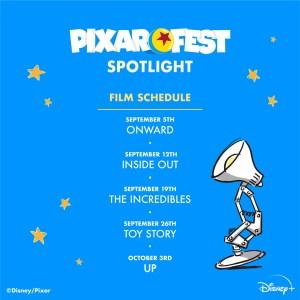pixar fest spotlight schedule