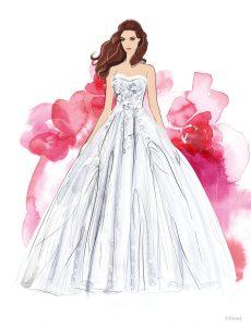 Fairy Tale Weddings & Honeymoons Belle Sketch