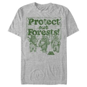 Star Wars Men's Ewok Protect Our Forests T-Shirt