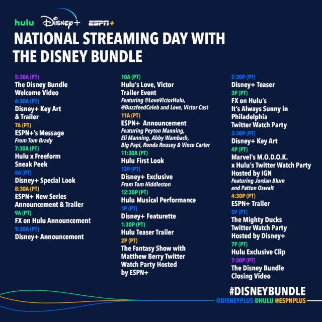 disney bundle streaming day