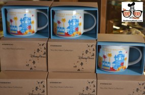 """Lots of Starbucks Mugs available at the Trolley Car Cafe... That's NOT the case at Magic Kingdom or Epcot... both back-ordered until """"Mid March"""""""