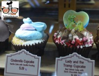 Cinderella and Lady and the Tramp Cupcakes available at Hollywood Studios.