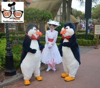 Mary Poppins and the penguins outside of England - amazing guest interaction - nice Job Mary Poppins!