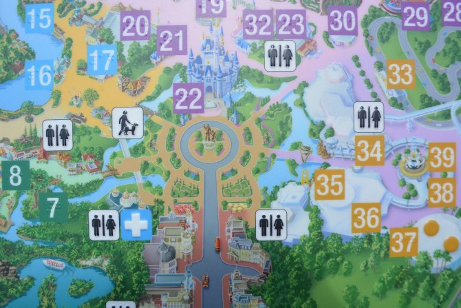 A Picture of the Braille Map located on Main Street showing the completed Hub Expansion.
