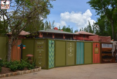 More Animal Kingdom Construction - This is Flame Tree Barbecue.