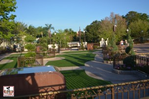 The new Plaza Garden doubles as the wishes fastpass viewing area...