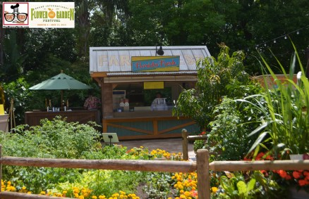 One of many outdoor Kitchens - Florida Fresh: Watermelon Salad; Shrimp and Stone Ground Grits; Florida Blueberry and Lemon Curt Tart; Feast of Flowers Farmhouse Ale (Festival Exclusive) - Epcot International Flower and Garden Festival 2015