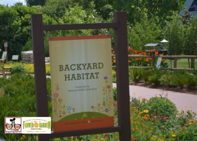 The Backyard Habitat, located on the walkway from imagination to world showcase - Epcot International Flower and Garden Festival 2015