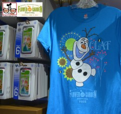 Frozen Themed Merchandise included an Olaf T-Shirt - Epcot International Flower and Garden Festival 2015