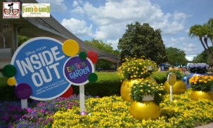 "The ""Inside Out"" Emotion Garden was located new the Imagination Pavilion - Epcot International Flower and Garden Festival 2015"