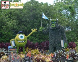 Mike & Sulley once again hosted the Monstrous Garden and Play area - - Epcot International Flower and Garden Festival 2015