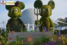 Farmer Mickey and Minnie with Logo - - Epcot International Flower and Garden Festival 2015