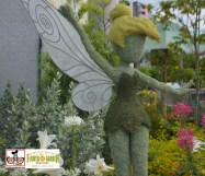 """Tinker Bell Topiary outside """"Butterflies on the Go"""" """"Discover the story of the Monarch butterfly's epic journey across the continent"""" - Epcot International Flower and Garden Festival 2015"""