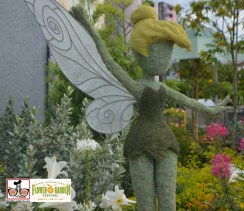 "Tinker Bell Topiary outside ""Butterflies on the Go"" ""Discover the story of the Monarch butterfly's epic journey across the continent"" - Epcot International Flower and Garden Festival 2015"