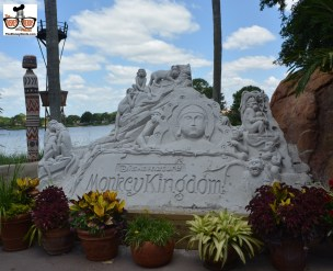 Monkey Kingdom sand sculpture still out near African Outpost