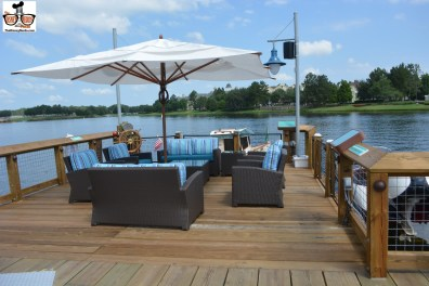 Dock side dining and/or lounging is available.