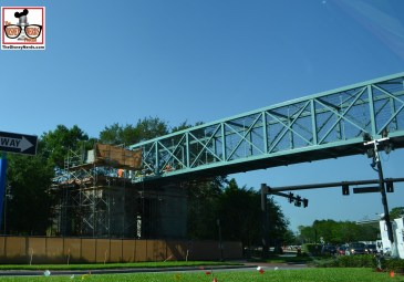 Downtown Disney Construction continues - this is the pedestrian bridge from the Partner Resorts to Downtwon